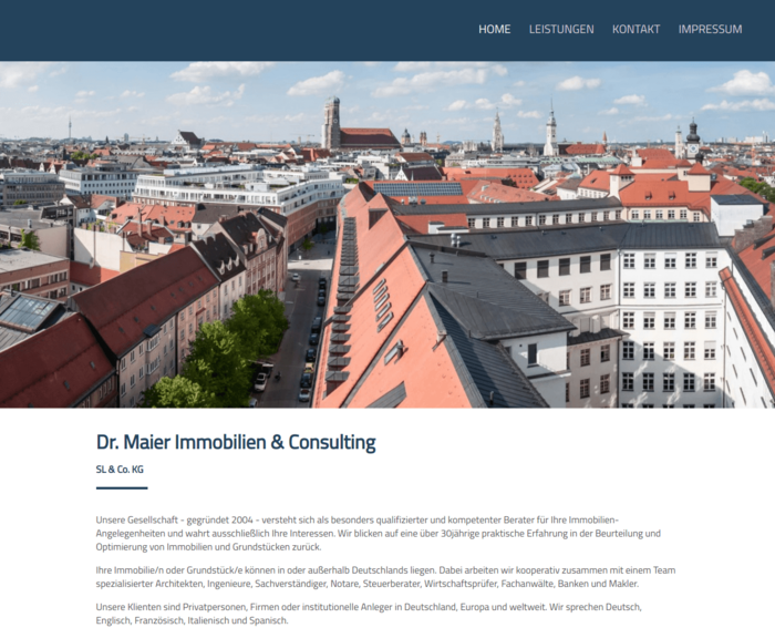Dr. Maier Immobilien & Consulting SL & Co. KG